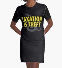 Being Libertarian , Taxation Is Theft Graphic T-Shirt Dress
