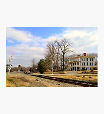 The Exchange Hotel and Railroad Photographic Print