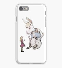 Jefferson Hare and the Child in Pink iPhone Case/Skin