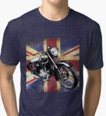 Classic BSA Motorcycle by Patjila Tri-blend T-Shirt