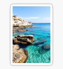 Turquoise waters of Mediterranean sea Sticker