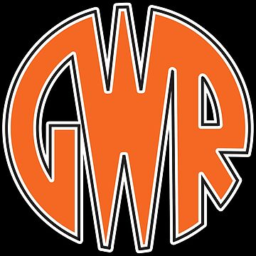 GWR, Great Western Railway, Railwayana, Trains, Rail, LOGO on BLACK by TOMSREDBUBBLE