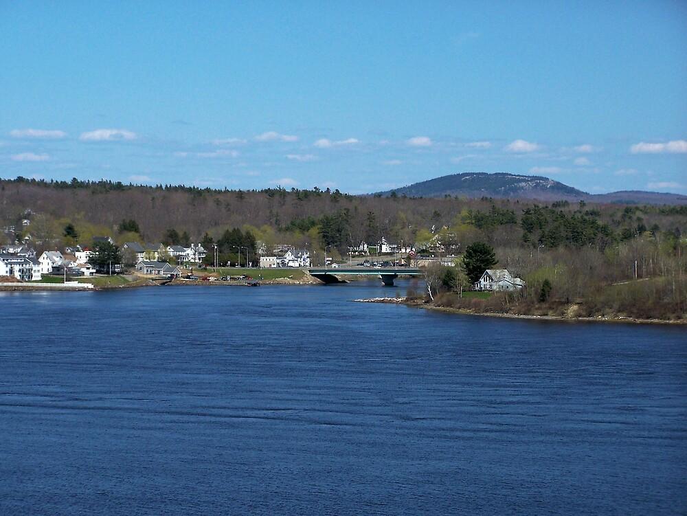 New England Town by Gene Cyr