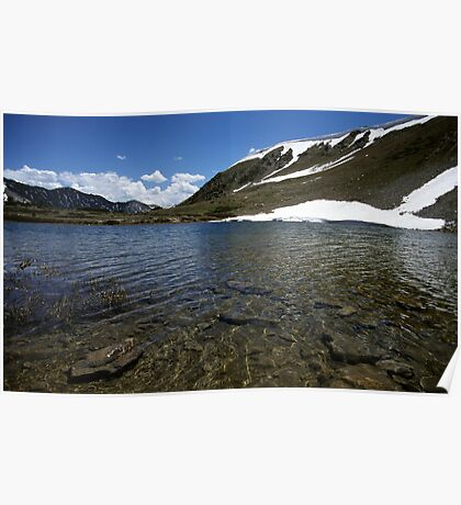 Small Lake on Loveland Pass, Colorado Poster