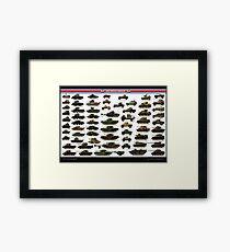 British Armour of ww2 Framed Print