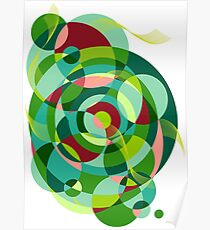 The Circle Wave - Green Poster
