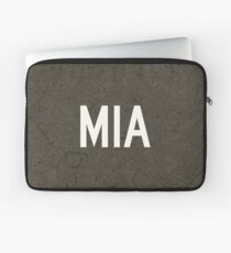 MIA Miami Airport Code Aeronautical Chart - Brown Laptop Sleeve