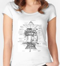 NASA - Cassini-Huygens Probe Diagram Women's Fitted Scoop T-Shirt