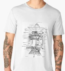 NASA - Cassini-Huygens Probe Diagram Men's Premium T-Shirt