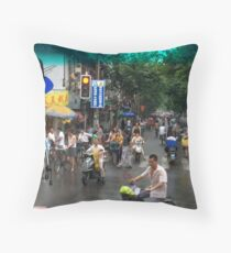 Downtown Suzhou Throw Pillow