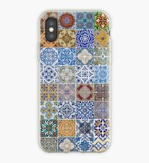 Set of 48 ceramic tiles patterns iPhone Case