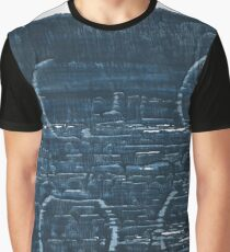 Japanese indigo abstract watercolor background Graphic T-Shirt