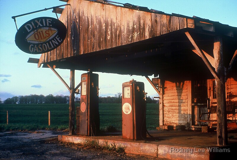 Quot Sunset On An Abandoned Gas Station Quot By Rodney Lee
