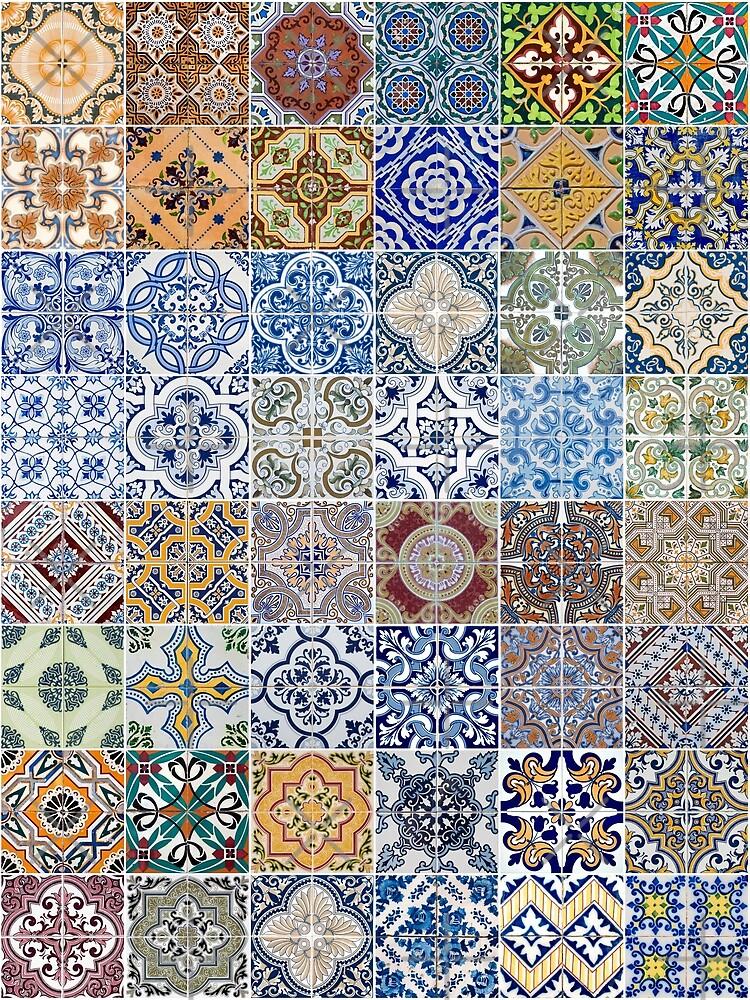 Set of 48 ceramic tiles patterns by homydesign