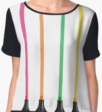Fluo Lines Women's Chiffon Top