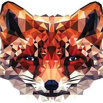 Geometric Low Poly Fox by kay-la-vie