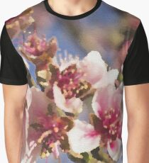 Cherry Blossoms on Canvas Graphic T-Shirt