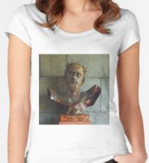 CHRIST CRUCIFIED, Coventry Cathedral, England Women's Fitted Scoop T-Shirt