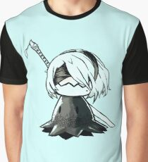 2B Mimikyu - Nier Automata Pokemon Graphic T-Shirt
