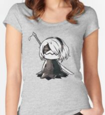 2B Mimikyu - Nier Automata Pokemon Women's Fitted Scoop T-Shirt