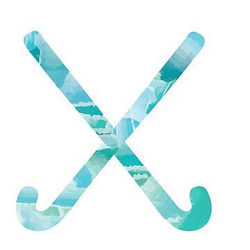 Feldhockey Aquarell 2 von mschmidtdesigns