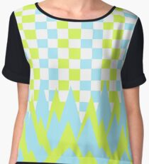 Fancy in yellow and blue Women's Chiffon Top