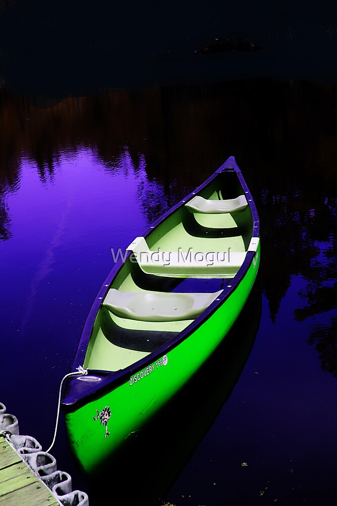 Lone Canoe by Wendy Mogul