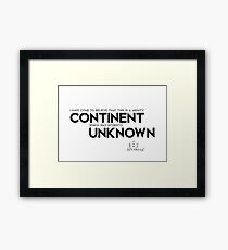 continent unknown - columbus Framed Print