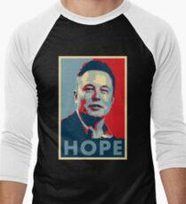"""Elon Musk """"Hope"""" Poster Men's Baseball ¾ T-Shirt"""