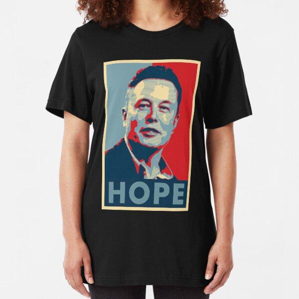 """Elon Musk """"Hope"""" Poster Slim Fit T-Shirt"""