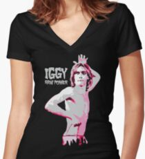 Iggy Stooge #2 Women's Fitted V-Neck T-Shirt