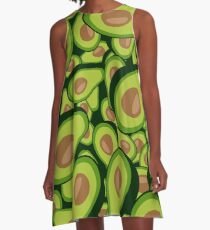 Avocado Collage A-Line Dress