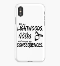 We're Lightwoods. Shadowhunters quote iPhone Case