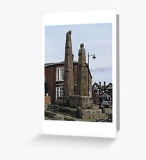 SAXON CROSSES SANDBACH, CHESHIRE, ENGLAND Greeting Card
