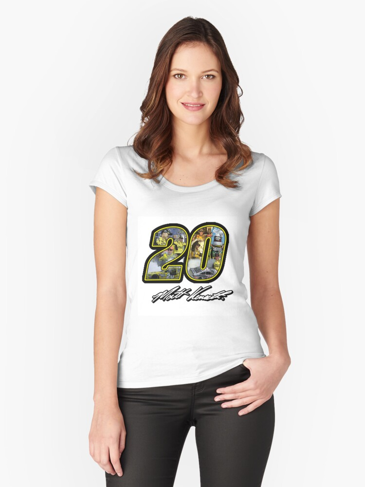 Matt Kenseth Tribute Design (Assorted Products) Women's Fitted Scoop T-Shirt Front