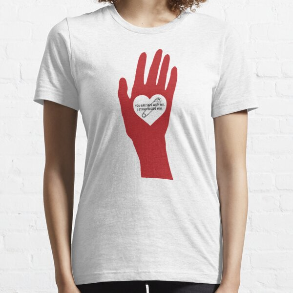 I STAND BESIDE YOU - SAFETY PIN OPEN HAND (TRN) Essential T-Shirt