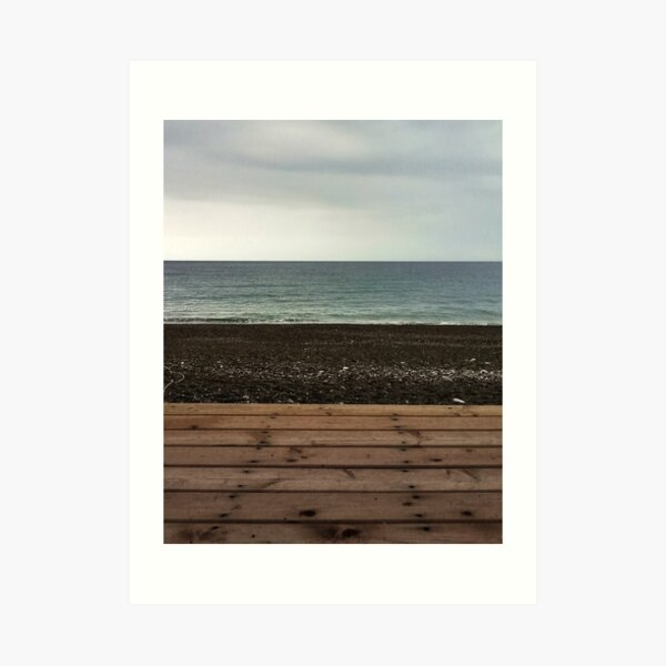 Seascape in layers Art Print