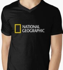 National Geographic Merchandise Men's V-Neck T-Shirt