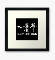 Paws Fiction Framed Print
