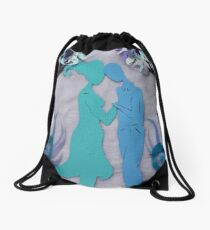 Winter Kiss #3 Drawstring Bag