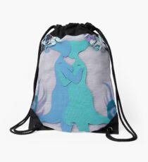 Winter Kiss #2 Drawstring Bag