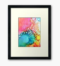 Cotton Candy Bubble Framed Print