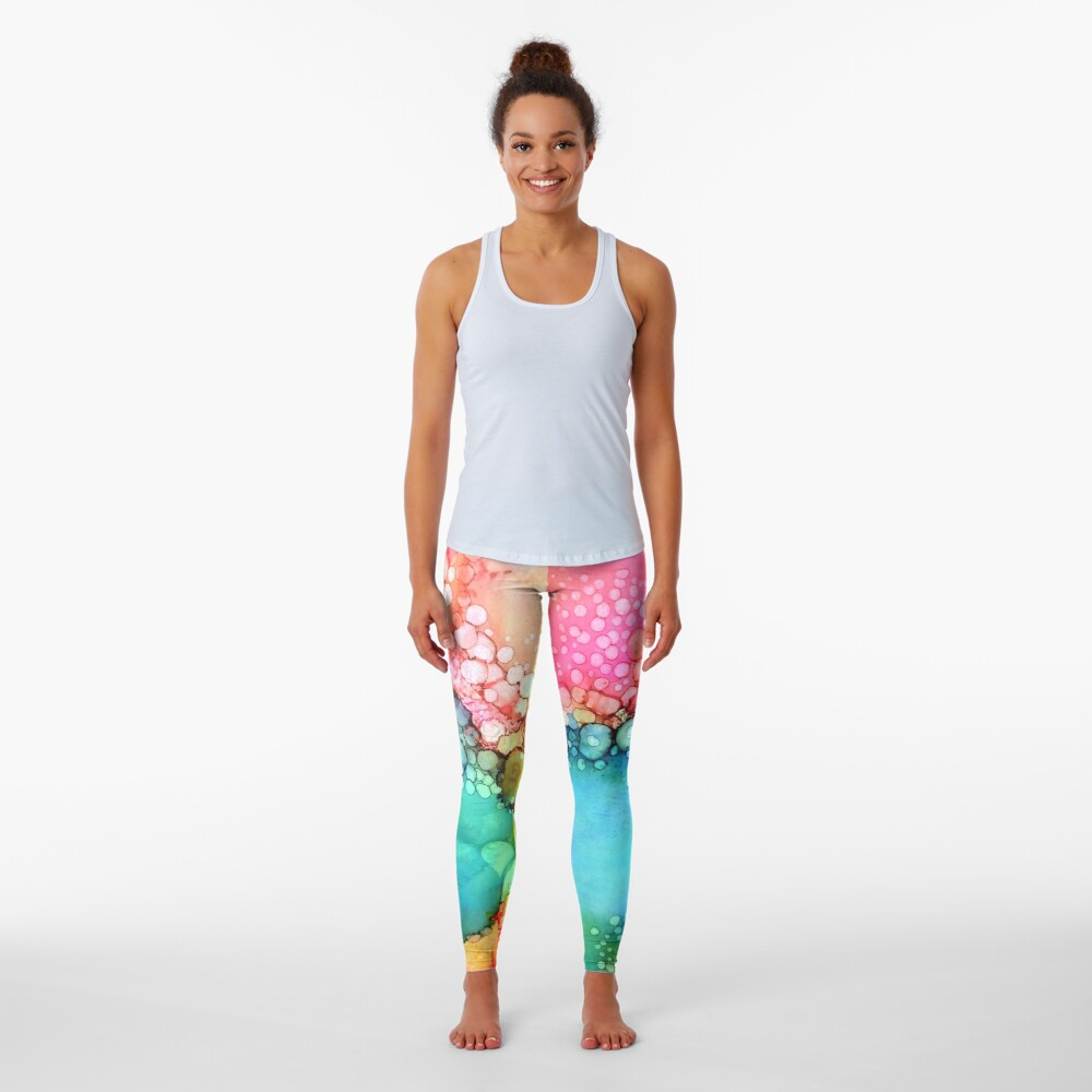 Cotton Candy Bubble Leggings