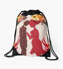 Autumn kiss #3 Drawstring Bag