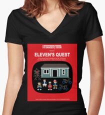 Eleven's Quest Women's Fitted V-Neck T-Shirt