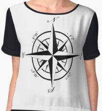 Retro Compass Women's Chiffon Top