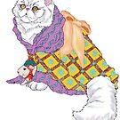 Kimono Kitty and Emperor Chu-ii by redqueenself
