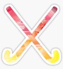 Field Hockey Watercolor 3 Sticker