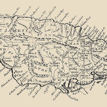 Map of Jamaica 1760 by pirateslife