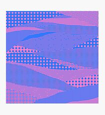 Memphis in Blue and Pink Photographic Print